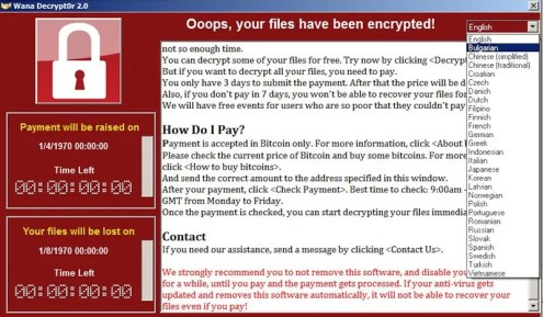 Screenshot of the CryptoWare