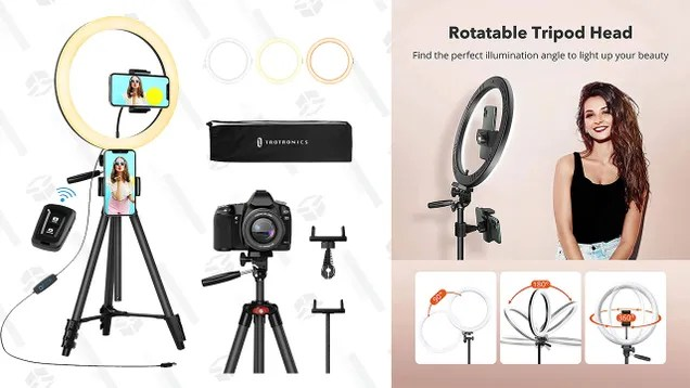 "btcolyiblo9epa4v7gzf Start Your Vlogging Career With 40% off a Taotronics 12"" Ring Light 