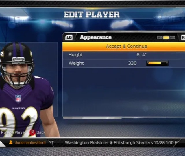 When It Released Madden Nfl 13s New Connected Careers Mode Forbade The Editing Of Any Player This Was Somewhat Understandable As The Roster Is Used By