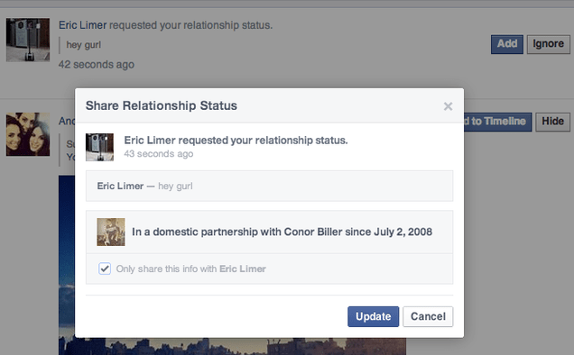 Facebook's Letting You Harass People About Their Relationship Status