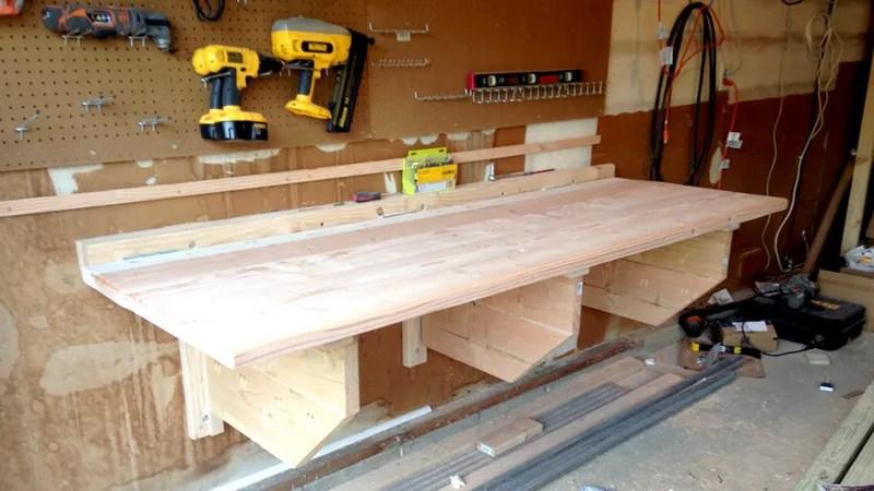 Wall Mounted Folding Work Table