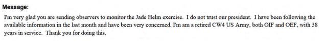 """I DO NOT TRUST BARAK OBAMA"": The Paranoid Emails of Jade Helm 15"