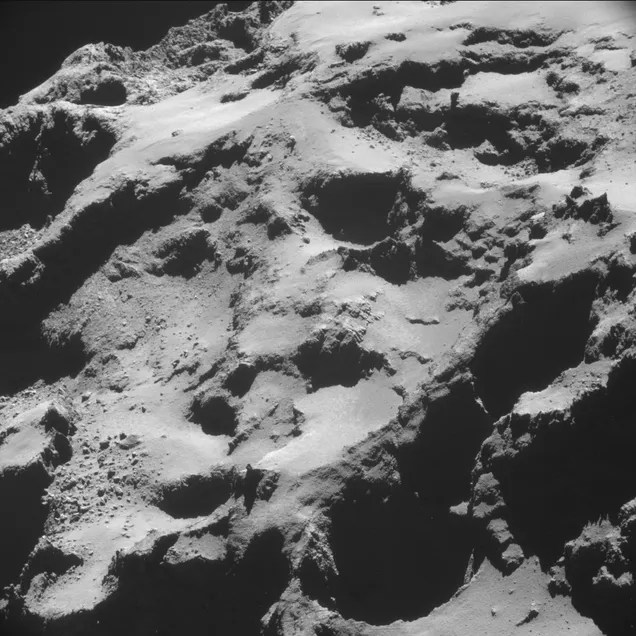 Sand Dunes on a Comet !
