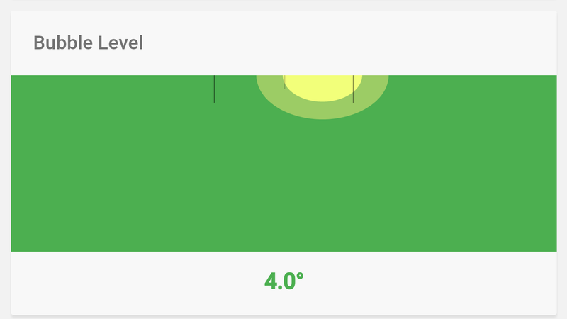 "Search ""Bubble Level"" On Google On Your Phone to Get a Working Level"
