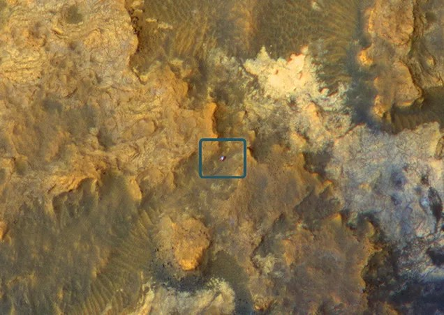 The Curiosity Rover Looks Incredibly Lonely When Seen From Space