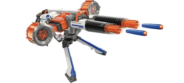 Nerf's Double-Barreled Rhino-Fire Blaster Guarantees Office Supremacy