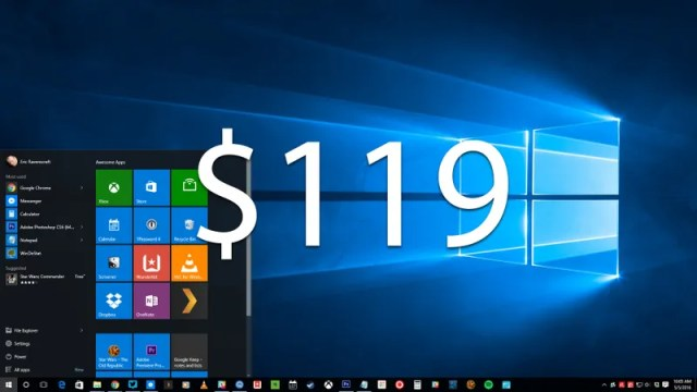Reminder: Windows 10 Home Will Cost $119 Starting July 29th
