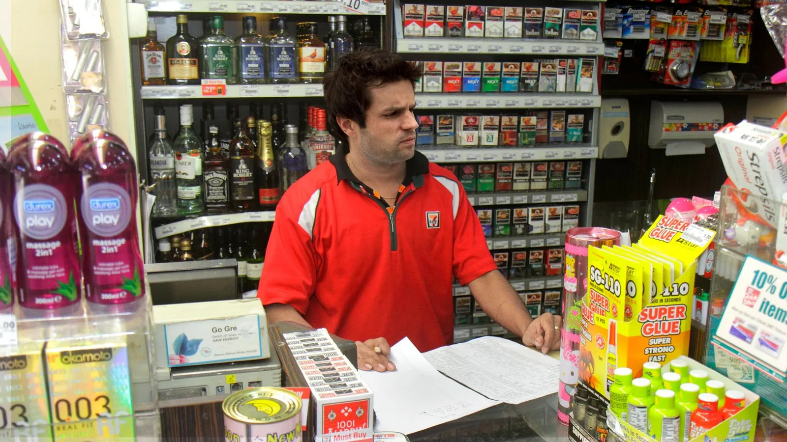 Customers Relieved To See Perky 7-Eleven Cashier's Spirit