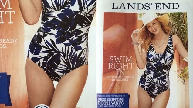Land's End Catalog Cover Photoshops Perfect Dorito-Shaped Thigh Gap