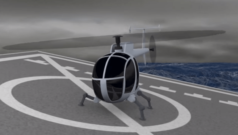 DARPA's Robotic Landing Gear Could Revolutionize How And Where Helicopters Land