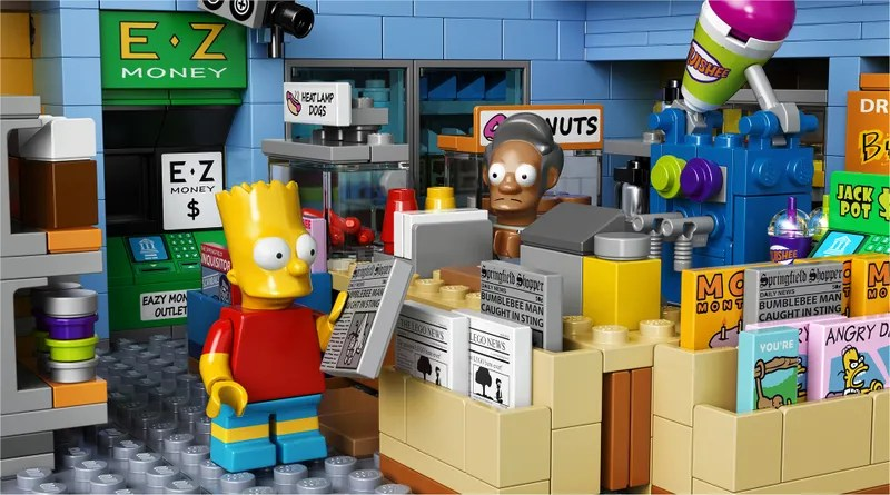 The Official LEGO Kwik E Mart Is Also Cursed     LEGO returns to Springfield with one of the fictional town s most  iconic retail establishments  Your own miniature Kwik E Mart franchise can  be yours in