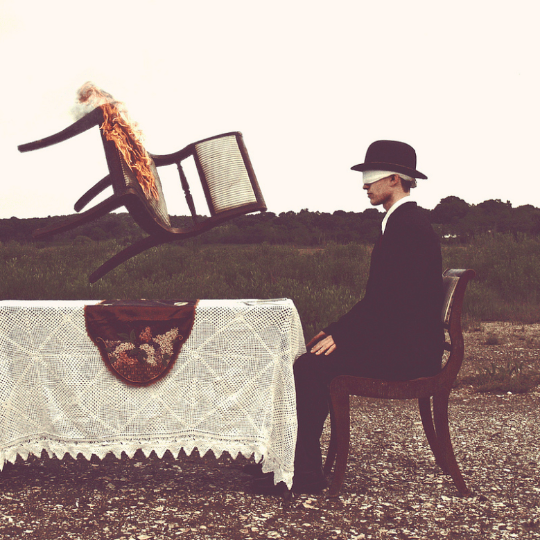 A victim of sleep-paralysis recreates his visions in photographs