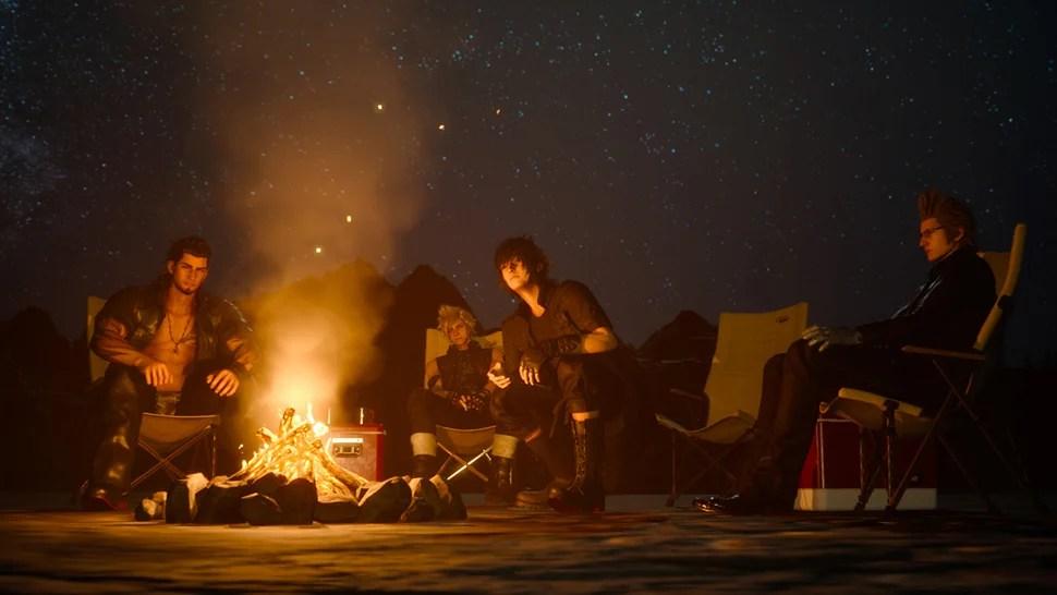 Image result for final fantasy 15 campfire