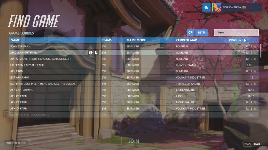 Overwatch Players Are Abusing Custom Games To Farm XP   Kotaku Australia It s not surprising that these modes are popular  Overwatch rewards you  with a loot box every time you level up  after all  I sincerely doubt   however