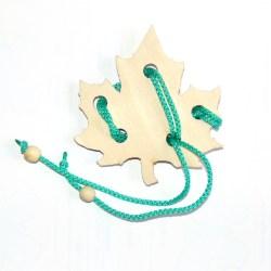 Верёвочная головоломка Кленовый лист