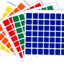 Наклейки на кубик Рубика 7х7