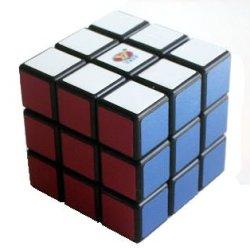 Кубик Рубика 3х3 черный для начинающих