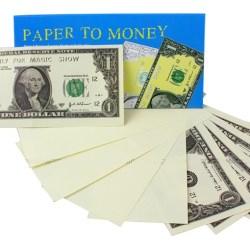Фокус Превращение бумаги в доллары