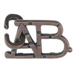 Головоломка литая Алфавит (Аналог Cast Puzzle ABC)
