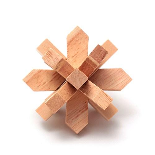 Головоломка деревянная Цветок