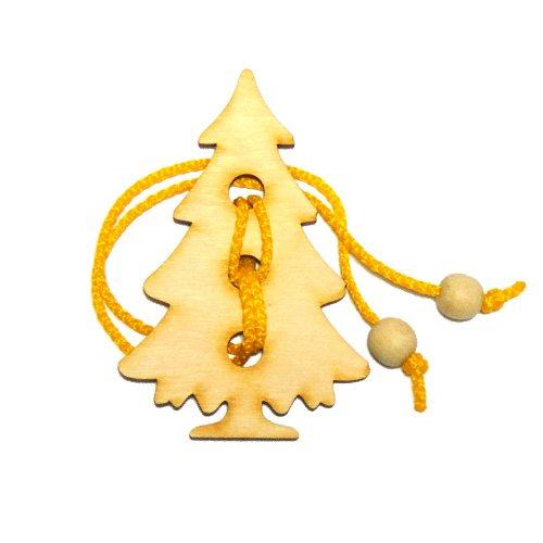 Головоломка веревочная новогодняя Елочка