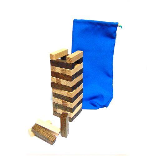 Цветная дженга на 48 квадратных брусков