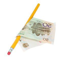 Пронзание купюры карандашом