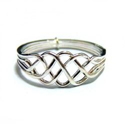 Кольцо-головоломка женское из 4 деталей (серебро)
