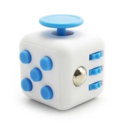 Антистрессовый кубик Fidget Cube Белосиний