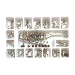 Набор металлических головоломок Brain Teaser 18 видов