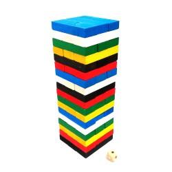 Цветная Дженга на 54 бруска