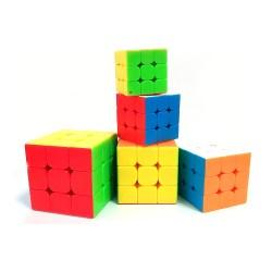 Набор цветных мини кубов 3x3 MoYu MoFangJiaoShi