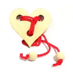 Верёвочная мини-головоломка Сердце