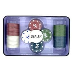 Покерный набор 100 фишек в металлическом боксе