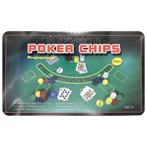 Покерный набор 300 фишек в металлическом боксе