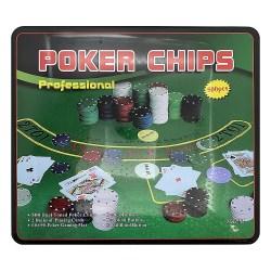 Покерный набор 500 фишек в металлическом боксе