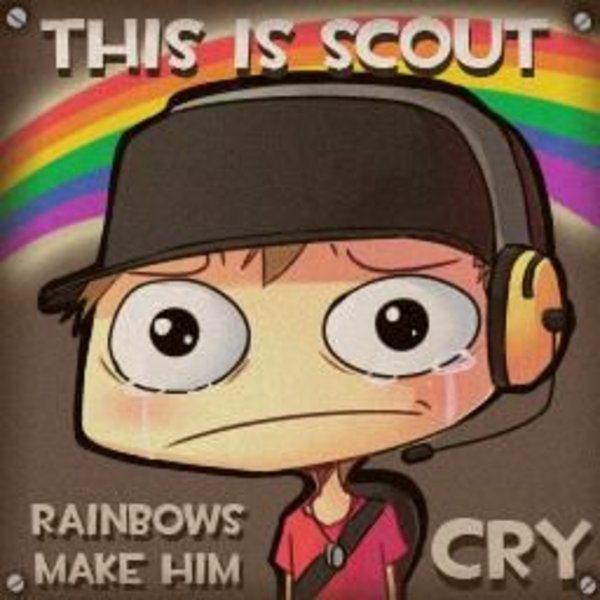 This Is Scout Rainbows Make Me Cry Know Your Meme