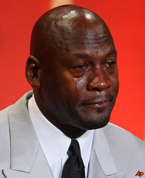 Michael Jordan References Crying Jordan Meme At Kobe Memorial