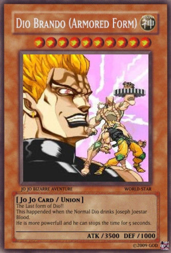 Making A Yu Gi Oh Card With Jojo Characters Every Day Until I M
