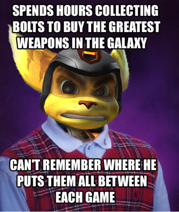 Bad Luck Ratchet Video Game Logic Know Your Meme