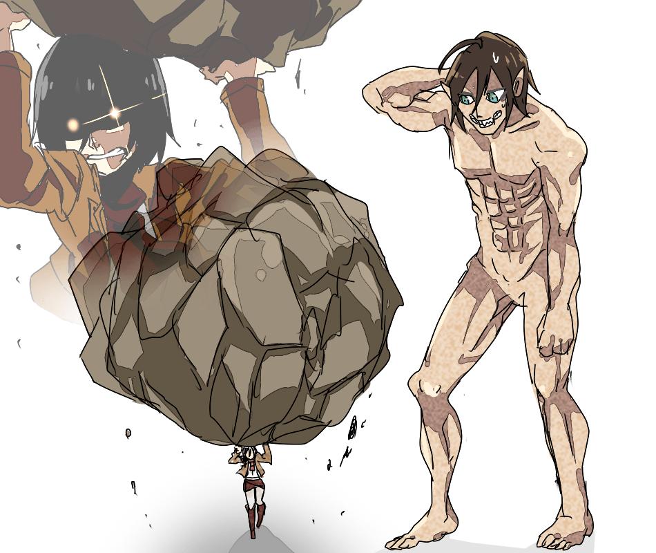 Eren X Mikasa Attack On Titan Anime Attack On Titan Funny