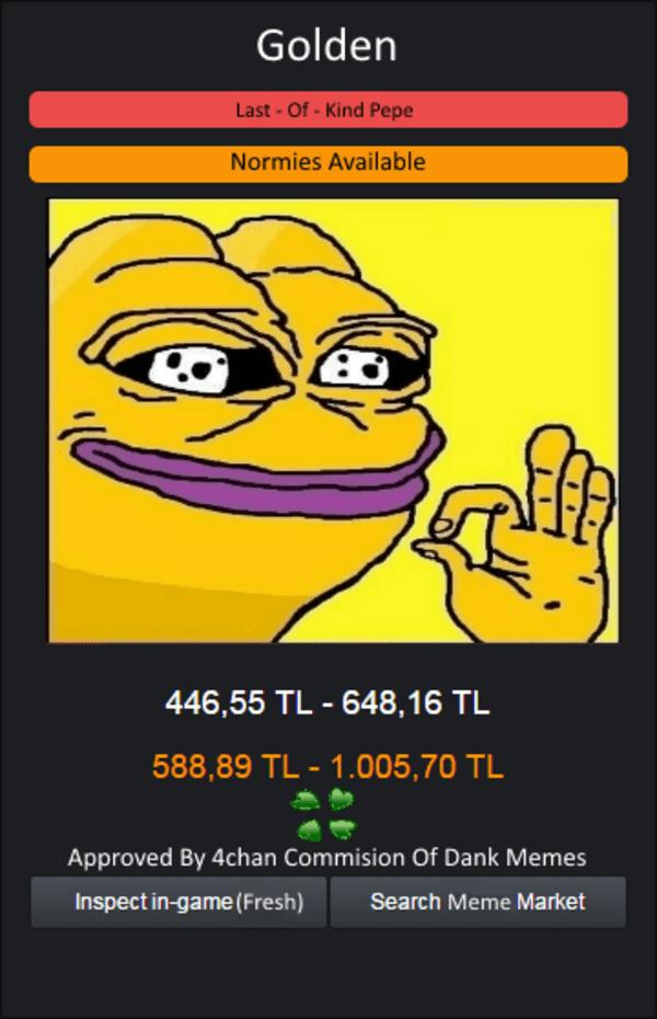 Csgo Rare Pepe Card Rare Pepe Know Your Meme
