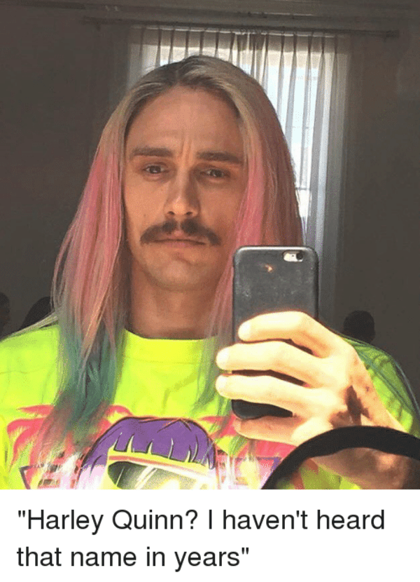 James Franco Harley Quinn I Haven T Heard That Name In Years