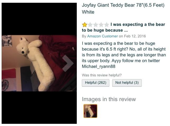 I Wasn T Expecting A The Bear To Be Huge Disproportionate Teddy