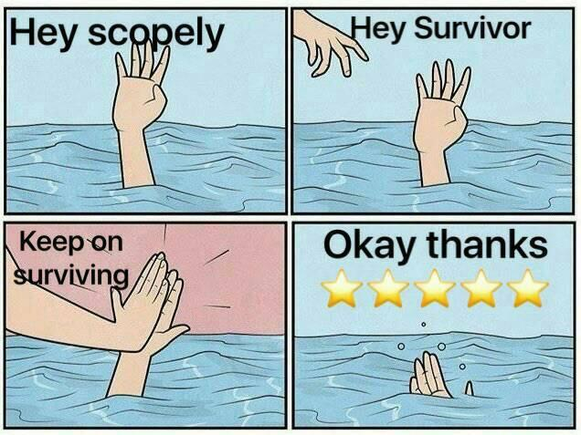 Walking Dead Drowning High Five Know Your Meme