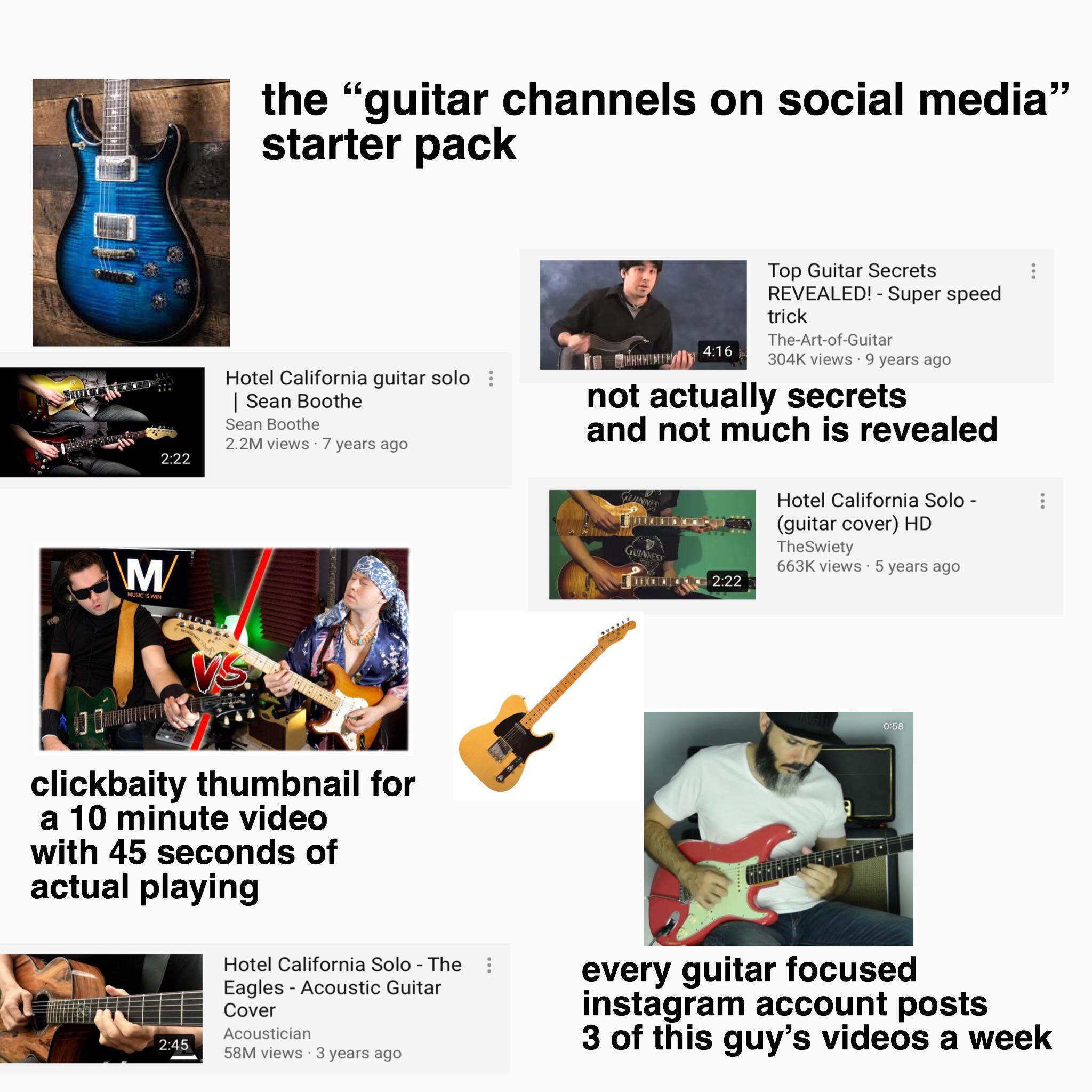 The Guitar Channels On Social Media Starter Pack R
