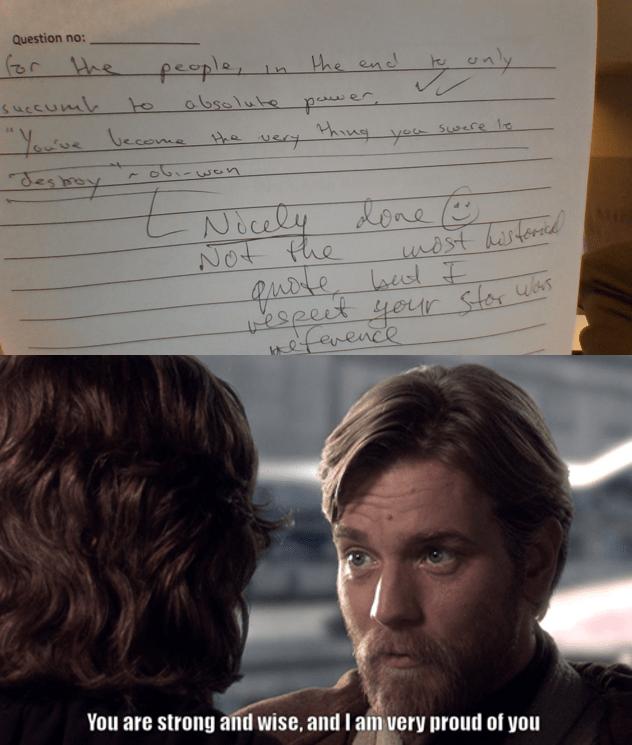 I Used An Obi Wan Kenobi Quote In My Napoleon Essay R