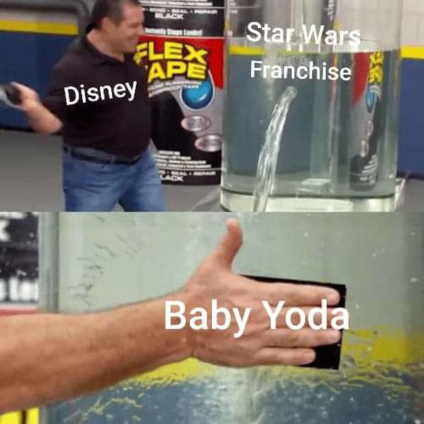 Flex Tap Can Fix That Baby Yoda Know Your Meme