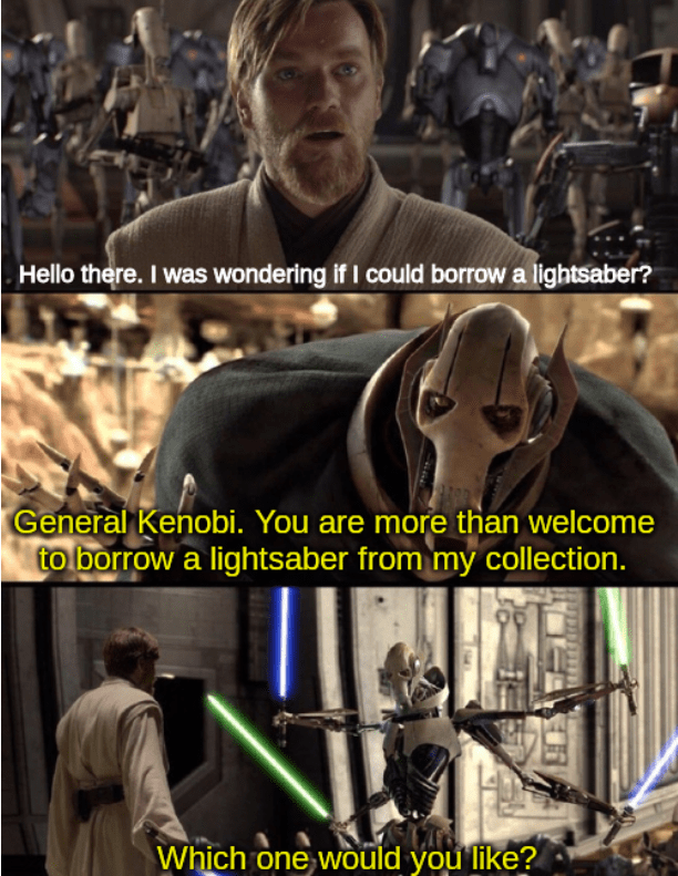Wholesome Kenobi And Grievous Og From R Prequelmemes R