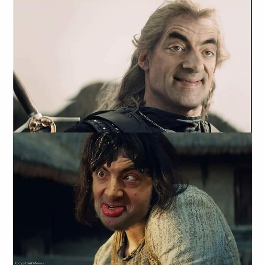 Toss A Bean To Your Witcher Mr Bean Know Your Meme